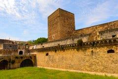 巴里,意大利老镇的建筑学  免版税图库摄影