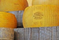 巴马干酪Reggiano或帕尔马干酪 免版税库存图片