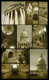 巴黎万神殿grunge的 免版税库存图片