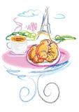 巴黎下午茶时间 库存图片