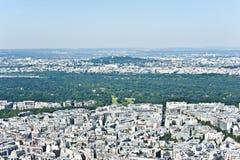 巴黎从上面。 免版税库存照片