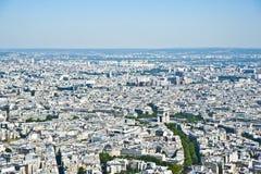 巴黎从上面。 库存图片