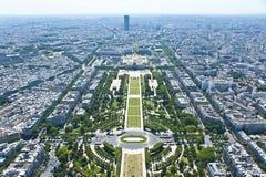 巴黎从上面 免版税库存图片