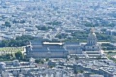 巴黎从上面 库存照片