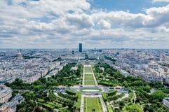 巴黎从上面 库存图片
