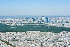 巴黎从上面 免版税库存照片