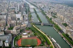 巴黎从埃菲尔铁塔@Paris法国的市视图 图库摄影