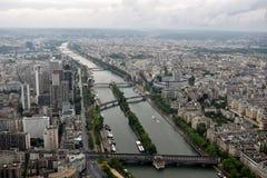 巴黎从埃菲尔铁塔@Paris法国的市视图 免版税库存照片