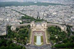 巴黎从埃菲尔铁塔@Paris法国的市视图 库存图片