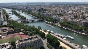 巴黎从艾菲尔铁塔,巴黎,法国的视图地平线 影视素材