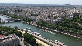 巴黎从艾菲尔铁塔,巴黎,法国的视图地平线 股票录像