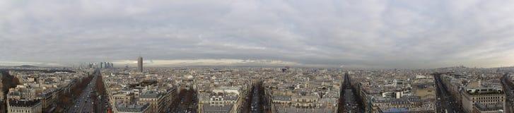 巴黎全景  库存图片