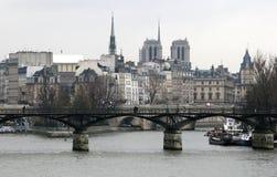 巴黎冬天 免版税库存照片