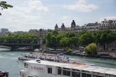 巴黎和塞纳河-法国 免版税库存图片