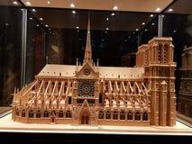 巴黎圣母院的缩样 免版税库存照片