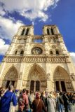 巴黎圣母院- 2016年10月10日 巴黎, Notre Dame de Par 免版税库存图片