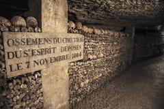 巴黎地下墓穴  免版税库存照片