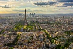 巴黎地平线和艾菲尔铁塔在巴黎 库存图片