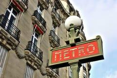 巴黎地铁符号 图库摄影