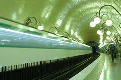 巴黎岗位地铁 库存照片