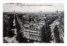 巴黎市全景, Place de Bastille,法国,大约1904年, 免版税库存图片