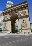 巴黎拉斯维加斯旅馆:凯旋门复制品在拉斯维加斯 免版税库存照片