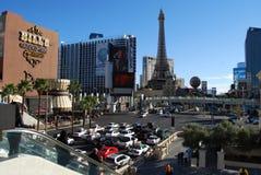 巴黎拉斯维加斯,拉斯韦加斯大道、巴黎拉斯维加斯,巴黎拉斯维加斯,巴黎拉斯维加斯,巴黎旅馆和赌博娱乐场,市区, 库存照片