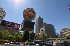 巴黎旅馆和赌博娱乐场,地标,城市,市区,镇 免版税库存照片