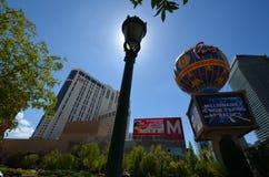 巴黎旅馆和赌博娱乐场,地标,市区,街市,公园 库存图片