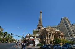 巴黎旅馆和赌博娱乐场,地标,镇,城市,旅游业 免版税库存图片