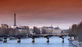 巴黎河围网 库存照片
