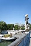 巴黎的市中心。 库存图片