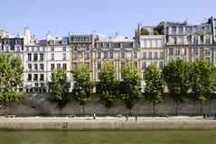 巴黎码头围网 图库摄影