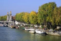 巴黎码头围网 库存图片