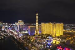 巴黎维加斯晚上 免版税库存照片