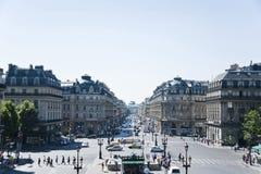 巴黎视图从歌剧Garnier的阳台的。 免版税库存照片