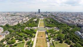 巴黎视图从艾菲尔铁塔的timelapse录影,巴黎,法国 股票录像