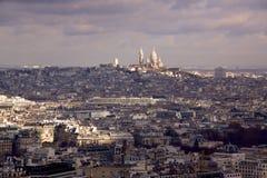 巴黎视图往Sacre Coeur的 库存照片