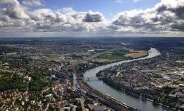 巴黎郊区 免版税库存照片