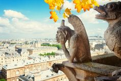 巴黎面貌古怪的人 库存照片