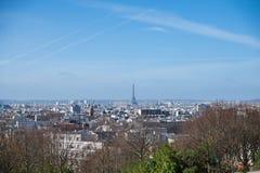 巴黎,全景 免版税库存图片