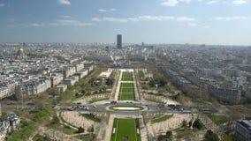 巴黎,有巴黎的主要吸引力的法国都市风景看法  股票视频