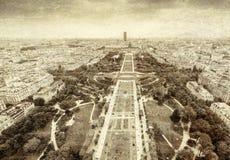巴黎,法国空中葡萄酒照片  库存照片