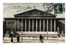 巴黎,法国议会,法国国民议会的法国众议院,大约1908年, 免版税库存图片