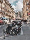 巴黎,法国,2019年6月:法国的首都的街道 免版税库存图片