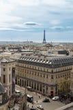 巴黎,法国, 2017年3月29日:巴黎美好的全景从艾菲尔铁塔的 免版税图库摄影