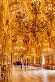 巴黎,法国, 2017年3月31日:歌剧全国de巴黎Garnier,法国的内部看法 它从1861被修造了 免版税库存照片