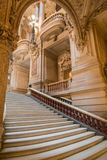 巴黎,法国, 2017年3月31日:歌剧全国de巴黎Garnier,法国的内部看法 它从1861被修造了 免版税图库摄影