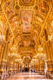 巴黎,法国, 2017年3月31日:歌剧全国de巴黎Garnier,法国的内部看法 它从1861被修造了 免版税库存图片