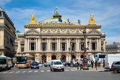巴黎,法国- 2015年6月29日:Palais或歌剧Garnier 库存照片
